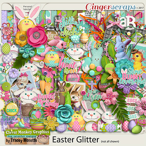 Easter Glitter by Clever Monkey Graphics
