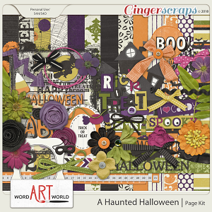 A Haunted Halloween Page Kit