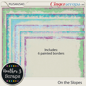 On the Slopes BORDERS by Heather Z Scraps