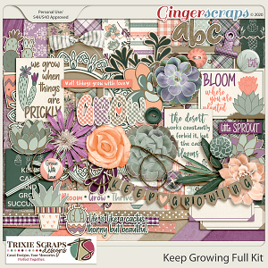 Keep Growing Full Kit by Trixie Scraps Designs
