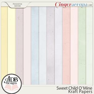 Sweet Child 'O Mine Kraft Papers by ADB Designs