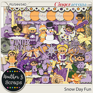 Snow Day Fun KIT by Heather Z Scraps