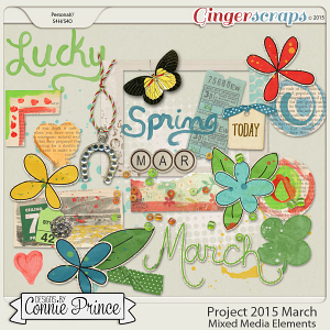 Retiring Soon - Project 2015 March - Mixed Media Elements