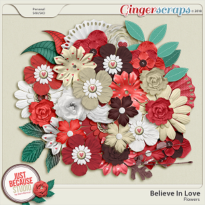 Believe In Love Flowers by JB Studio