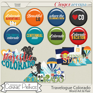 Travelogue Colorado - Word Art & Flair Pack by Connie Prince