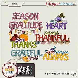 Season Of Gratitude Titles by JB Studio & Aimee Harrison Designs