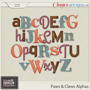 Paws and Claws Alpha Sets by Aimee Harrison