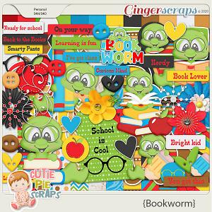 Bookworm Page Kit By Cutie Pie Scraps