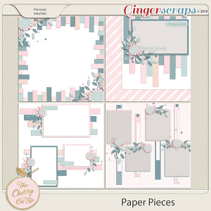 The Cherry On Top:  Paper Pieces Templates
