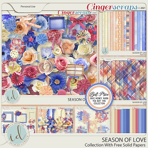 Season Of Love Collection With Free Solid Papers by Ilonka's Designs