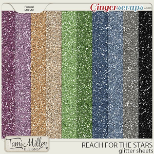 Reach for the Stars Glitter Sheets by Tami Miller Designs