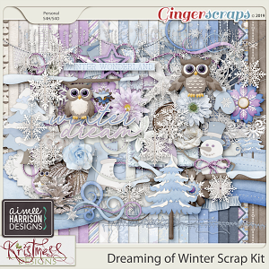 Dreaming of Winter Page Kit by Aimee Harrison and Kristmess Designs