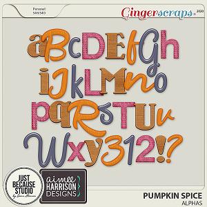 Pumpkin Spice Alphas by JB Studio and Aimee Harrison Designs