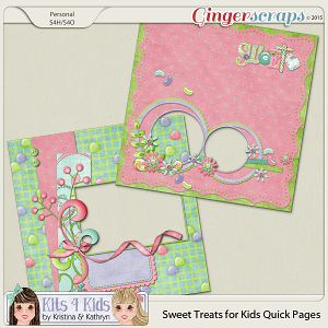 Sweet Treats QuickPages by K4K