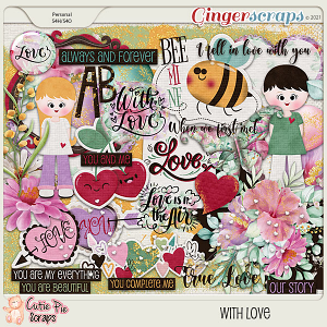 With Love- Elements By Cutie Pie Scraps