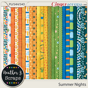 Summer Nights PAPERS by Heather Z Scraps