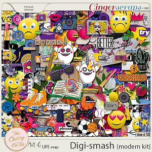 The Cherry On Top & Art & Life Scraps:  DigiSmash Modern Kit