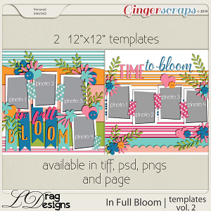 In Full Bloom: Templates Vol. 2 by LDragDesigns