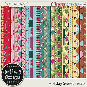 Holiday Sweet Treats PAPERS by Heather Z Scraps