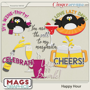 Happy Hour WORD ART by MagsGraphics