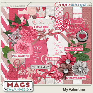 My Valentine KIT by MagsGraphics
