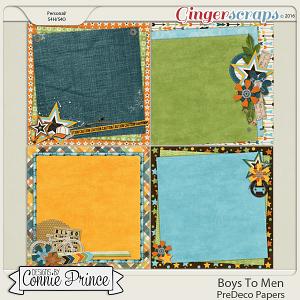 Boys To Men - PreDeco Papers