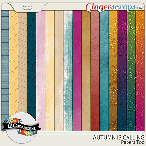 Autumn is Calling - Papers Too by Lisa Rosa Designs