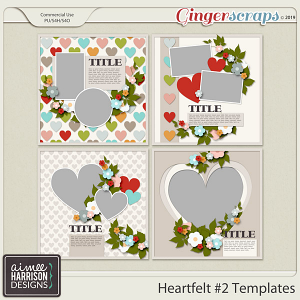 Heartfelt #2 Templates by Aimee Harrison