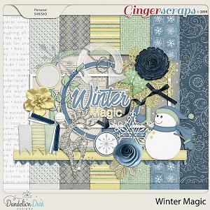 Winter Magic Digital Scrapbook Kit by Dandelion Dust Designs