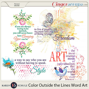 Color Outside the Lines Word Art by Karen Schulz