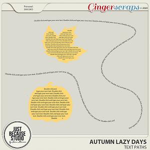 Autumn Lazy Days Text Paths by JB Studio