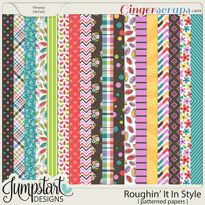 Roughin' It In Style {Patterned Papers} by Jumpstart Designs