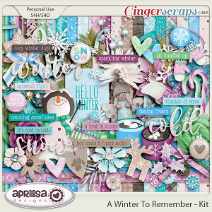 A Winter to Remember - Kit by Aprilisa Designs