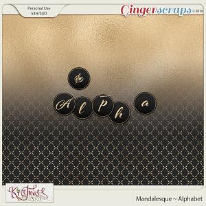 Mandalesque Alphabet