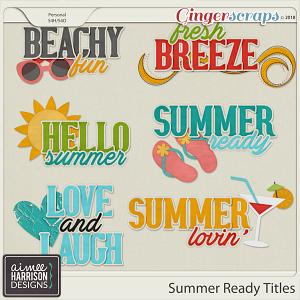 Summer Ready Titles by Aimee Harrison