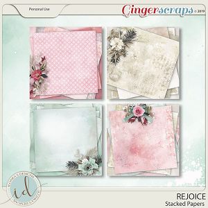 Rejoice Stacked Papers by Ilonka's Designs