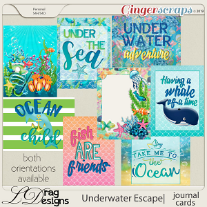 Underwater Escape: Journal Cards by LDragDesigns