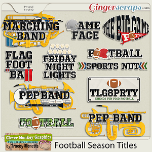 Football Season Titles by Clever Monkey Graphics