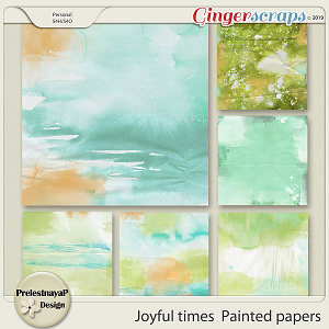 Joyful times Painted papers