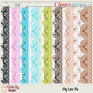 My Love Pie Pattern Papers
