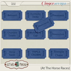 At The Horse Races Race Tags by Scraps N Pieces