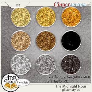 The Midnight Hour Glitter Styles by ADB Designs