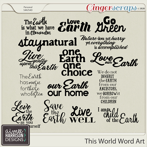 This World Word Art by Aimee Harrison