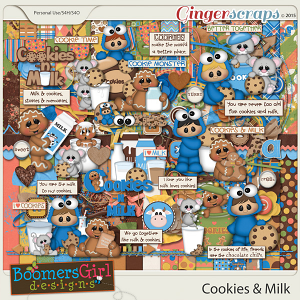 Cookies & Milk by BoomersGirl Designs