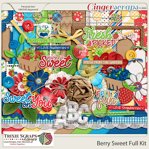Berry Sweet Full Kit by Trixie Scraps Designs
