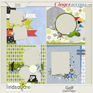 Golf Quick Pages by Lindsay Jane