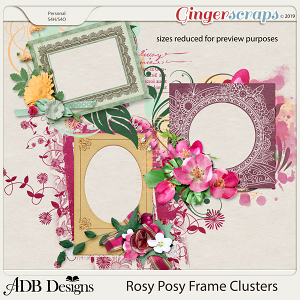 Rosy Posy Clusters by ADB Designs