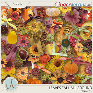 Leaves Fall All Around Elements by Ilonka's Designs