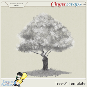 Doodles By Americo: Tree-01 Template