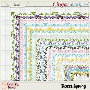 Tweet Spring Page Borders